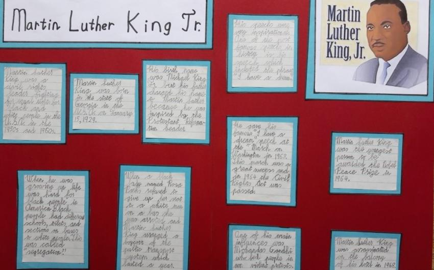 Project on Martin Luther King by James from room 10