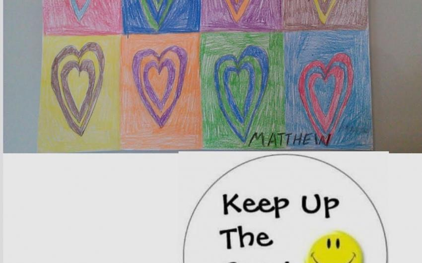 Matthew from room 11, inspired by Kandinsky, created this heart pattern picture