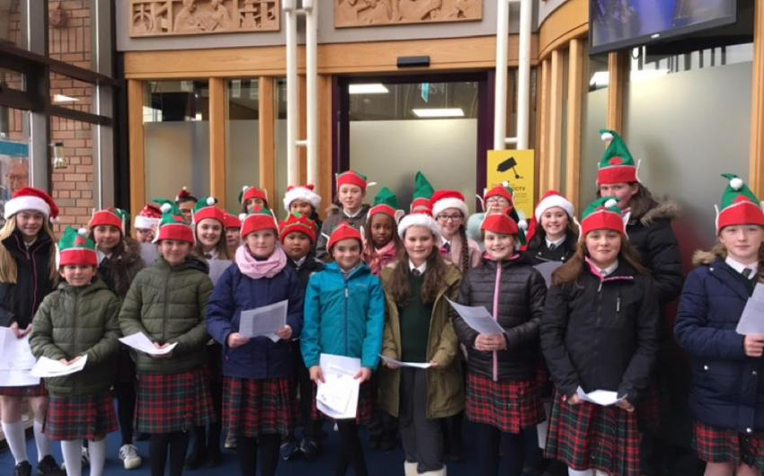 Carol Singers from St Joseph's in Credit Union Plus - photo 1
