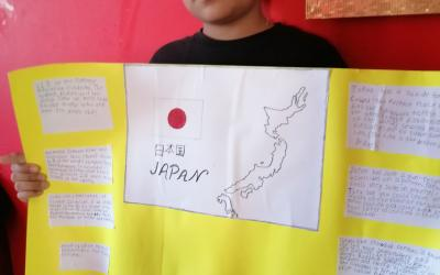Project on Japan by a boy from room 10