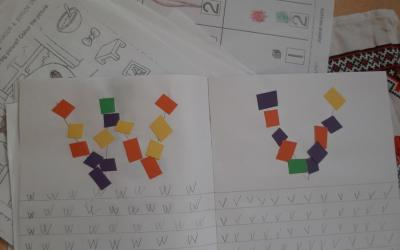 Letter work by Sergiu from room 1