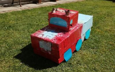 David from room 5 made his own transformer car