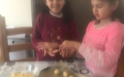 Sisters are busy baking