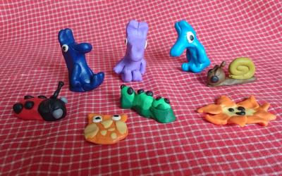 Clay Creatures by Olga from room 30