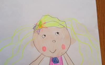 Dileta from room 6 did this drawing of 'The Little Mermaid'