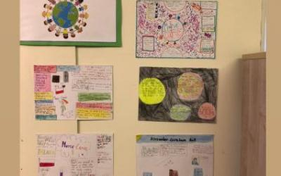 The pupils in 4th class studied the work of some famous scientists...