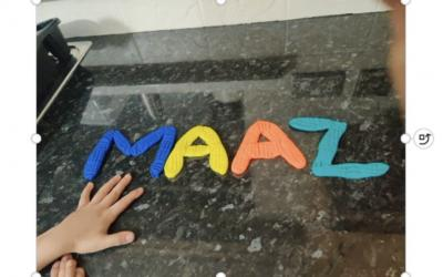 Maaz from room 1 made his name using playdough