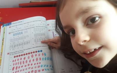 This girl from room 3A learned all about tens and units this week