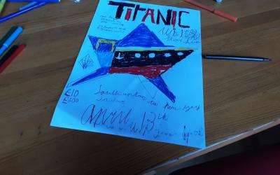 Ethan from room 35 created this Titanic poster