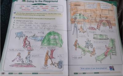 Zarrar from room 7 has been learning all about the playground