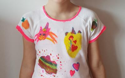 This girl from room 3 designed her own t-shirt