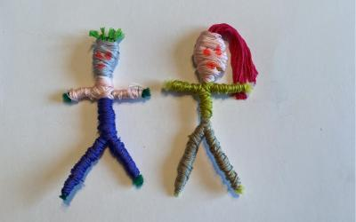 Bogdan from room 7 made two Worry Dolls