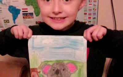 This boy from room 7 drew a picture of a koala