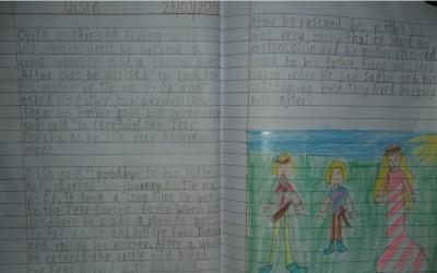 Aimilios from room 14 wrote this story about Oisín's trip to Tír na nÓg