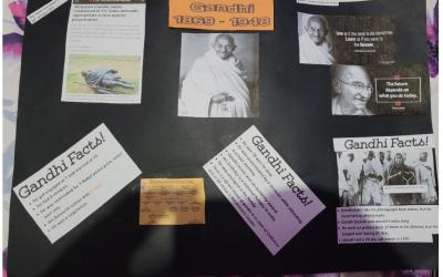 Hannah from room 35 did this project on Mahatma Gandhi