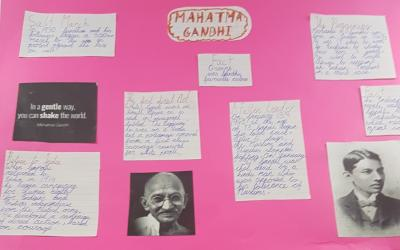 Maja from room 35 did this project on Mahatma Gandhi