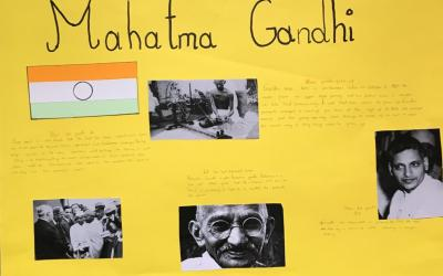 Igor from room 35 did this project on Gandhi