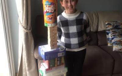 This girl from room 10 built a skyscraper