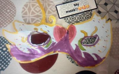 Mardi Gras mask by Arielle from room 12