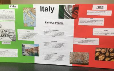 Alicia from room 10 did a project on Italy